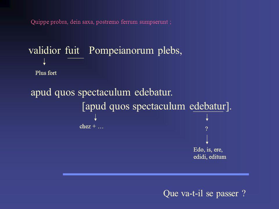 apud quos spectaculum edebatur. [apud quos spectaculum edebatur].